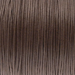 Fil Coton 1,5mm marron kaki (x 2m)
