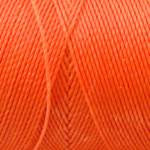 Fil polyester ciré 0,5mm couleur Orange (x 2m)