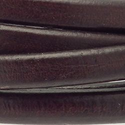 Cordon cuir 10x6mm couleur marron (x 0,20 m)