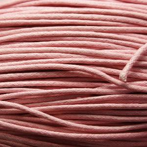 Fil coton ciré 2mm rose (x 2m)