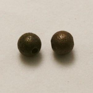 Perles en laiton strass paillette 5mm vieil or (x 2)