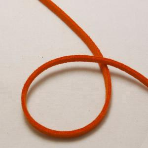 Lacet faux daim 3x1,5mm couleur orange (x 1m)