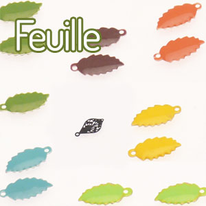perles forme feuille