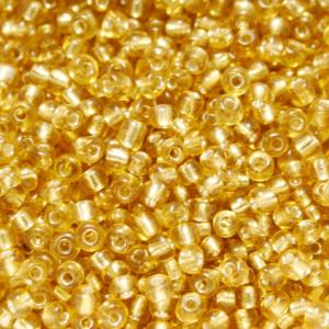 Perles de Rocaille 3mm couleur brun orange transparent trou argenté (x 20g)