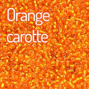 perles couleur orange carotte