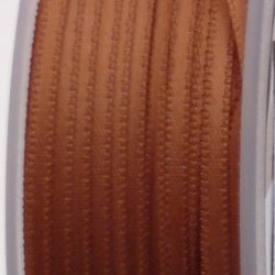 Ruban de satin 3mm couleur marron caramel (x 1m)