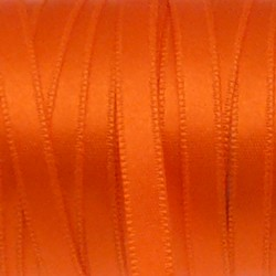 Ruban de satin 5mm couleur orange (x 1m)